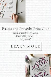 Psalms and Proverbs Print Club