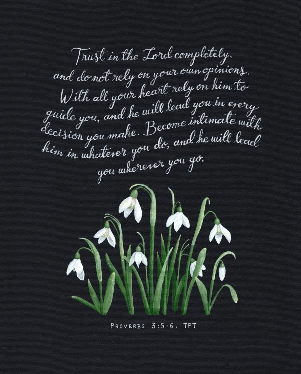Proverbs 3 Snowdrops Print - Hannah Pickering