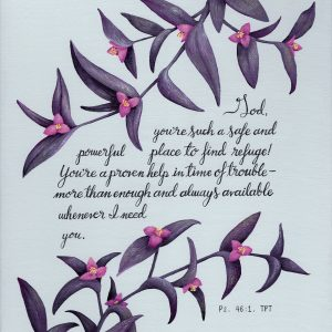 Ps 46 Purple Heart Plant Print - Hannah Pickering